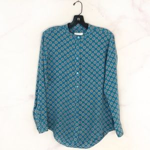 Equipment Bailey Medallion Silk Blouse